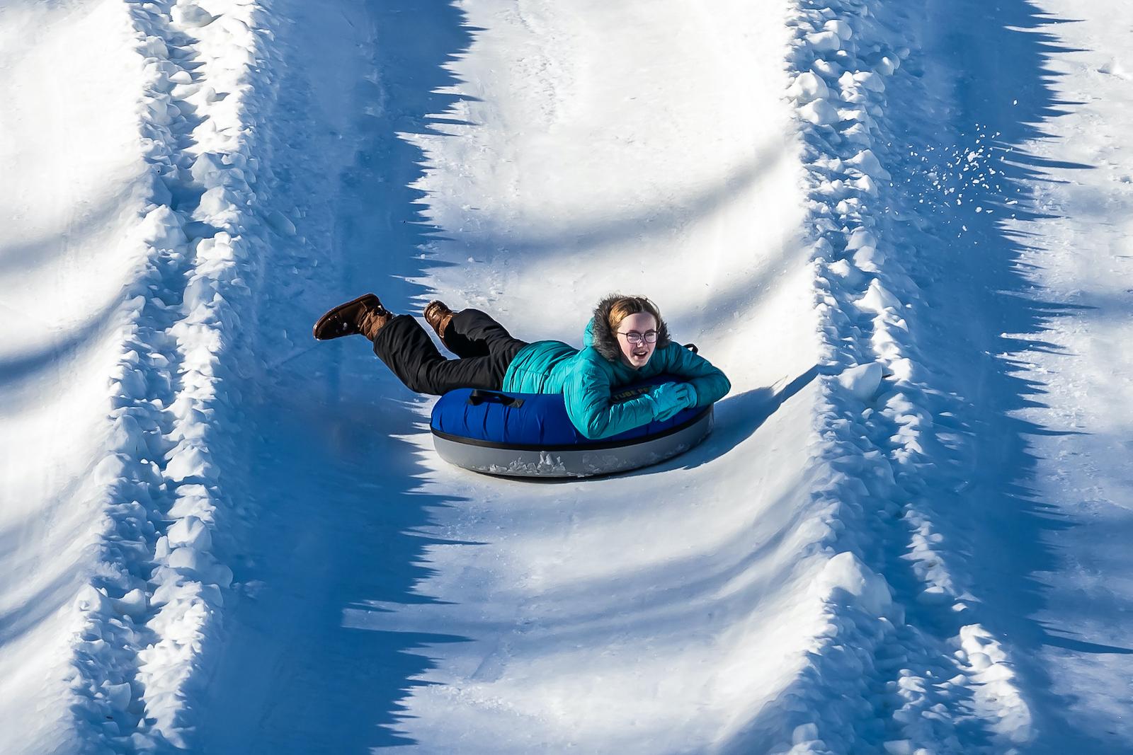 snow tubing family fun in western pa