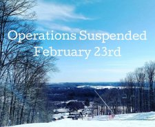 Operations Suspended Starting February 23rd